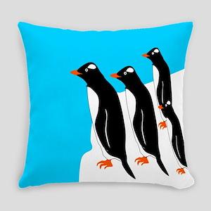 Gentoo Penguins Everyday Pillow