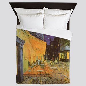 Van Gogh, Cafe Terrace at Night Queen Duvet
