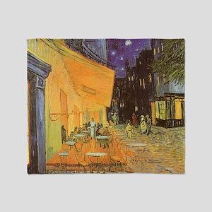 Van Gogh, Cafe Terrace at Night Throw Blanket