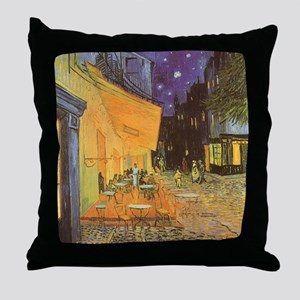 Van Gogh, Cafe Terrace at Night Throw Pillow