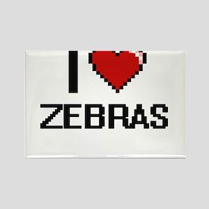 I love Zebras Digital Design Magnets