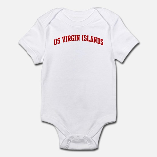 US VIRGIN ISLANDS (red) Infant Bodysuit