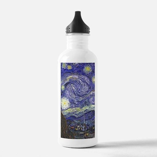 Starry Night by Vincen Water Bottle