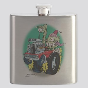 Zombie Hot Rod with Fez Flask