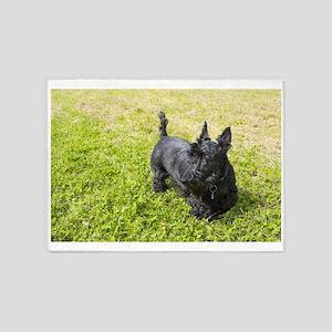 Scottie Dog 5'x7'Area Rug