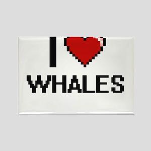 I love Whales Digital Design Magnets