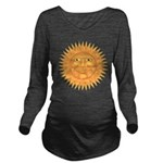 sun_face_2 Long Sleeve Maternity T-Shirt