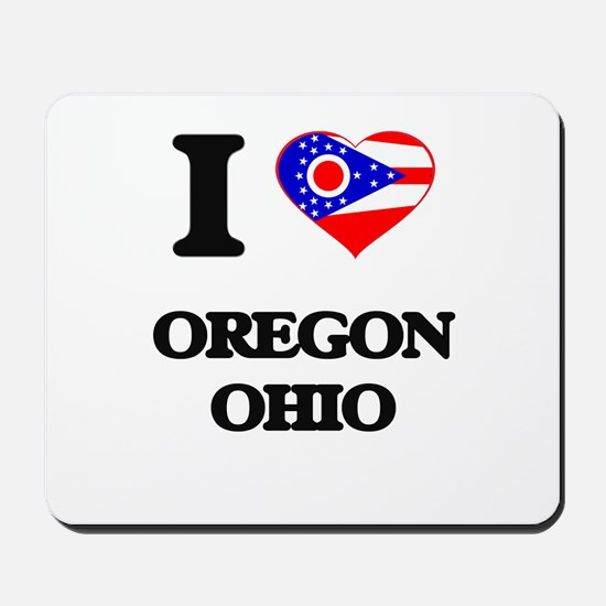 I love Oregon Ohio Mousepad