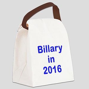 Billary in 2016 blue Canvas Lunch Bag