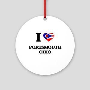 I love Portsmouth Ohio Ornament (Round)