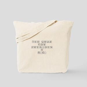 Ted Cruz for President 2016-Kon gray 460 Tote Bag