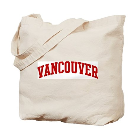 VANCOUVER (red) Tote Bag