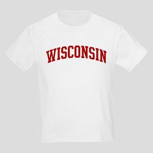 WISCONSIN (red) Kids Light T-Shirt