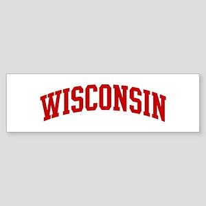 WISCONSIN (red) Bumper Sticker