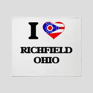 I love Richfield Ohio Throw Blanket