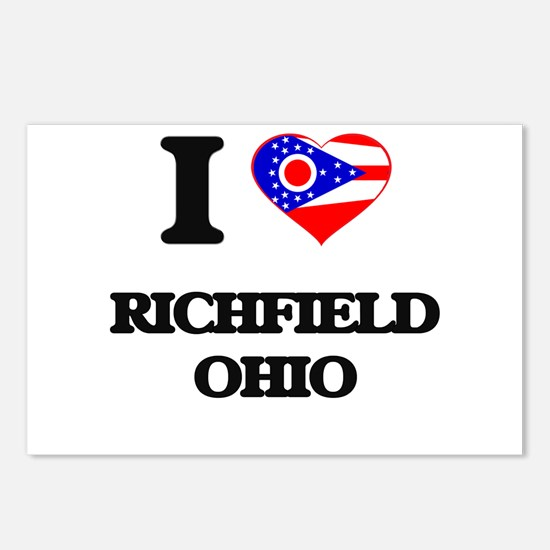 I love Richfield Ohio Postcards (Package of 8)