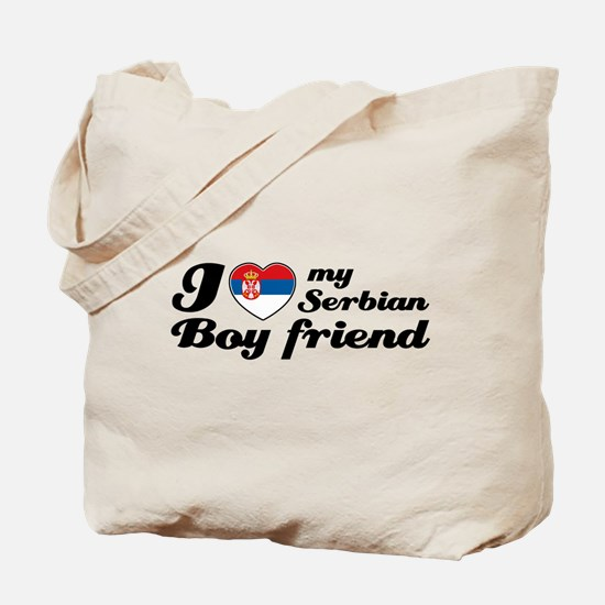 I love my Serbian boy friend Tote Bag