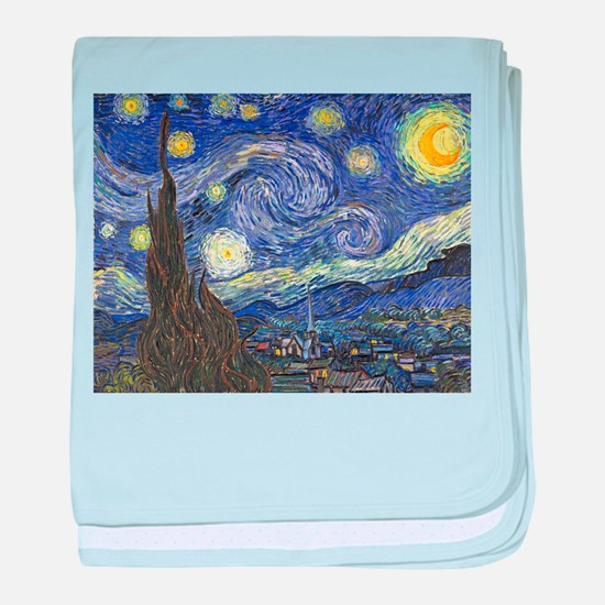 Starry Night by Vincent van Gogh baby blanket