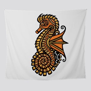 Steampunk Seahorse Wall Tapestry
