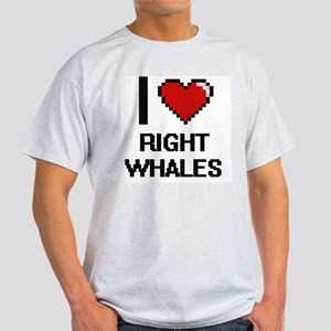 I love Right Whales Digital Design T-Shirt