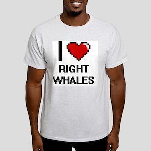 I love Right Whales Digital Design T-Shirt