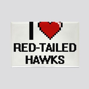 I love Red-Tailed Hawks Digital Design Magnets