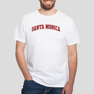 SANTA MONICA (red) White T-Shirt