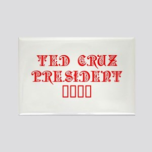Ted Cruz President 2016-Pre red 550 Magnets