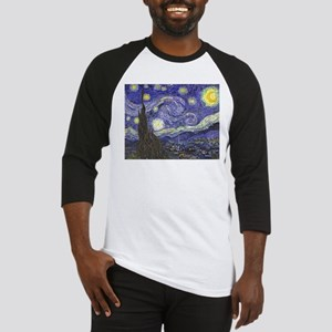 Starry Night by Vincent van Gogh Baseball Jersey