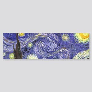 Starry Night by Vincent van Gogh Bumper Sticker