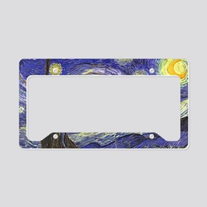 Starry Night by Vincent van G License Plate Holder