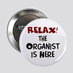"organist here 2.25"" Button"