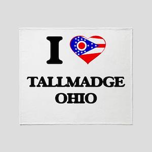 I love Tallmadge Ohio Throw Blanket