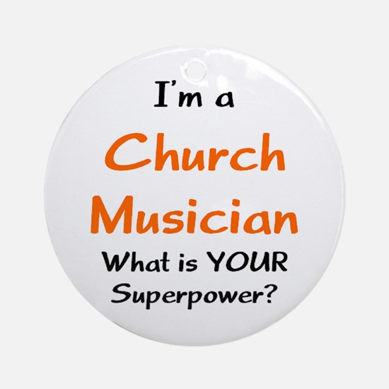 church musician Ornament (Round)