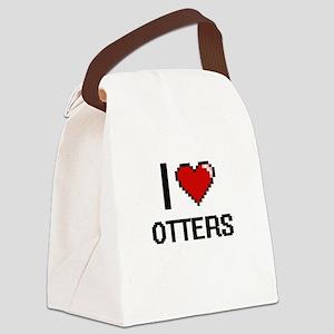 I love Otters Digital Design Canvas Lunch Bag