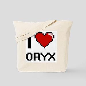 I love Oryx Digital Design Tote Bag