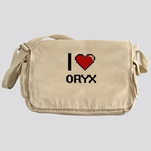 I love Oryx Digital Design Messenger Bag