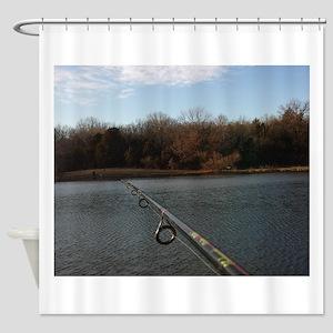 We Should Be Fishing. Fish Retro Tu Shower Curtain