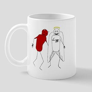Angel Punching Devil Mug