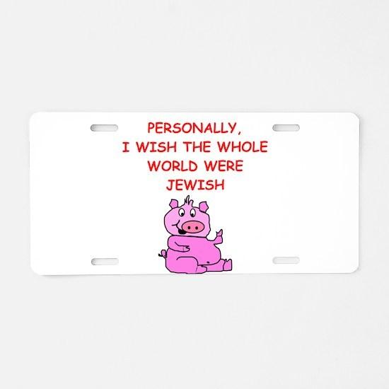 pig logic Aluminum License Plate