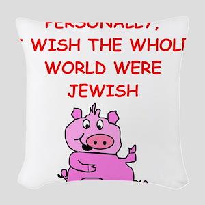 pig logic Woven Throw Pillow