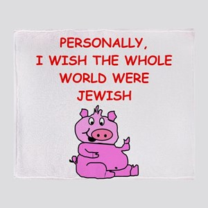 pig logic Throw Blanket