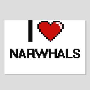 I love Narwhals Digital D Postcards (Package of 8)