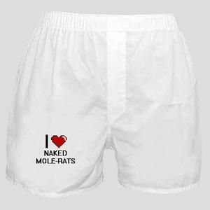 I love Naked Mole-Rats Digital Design Boxer Shorts