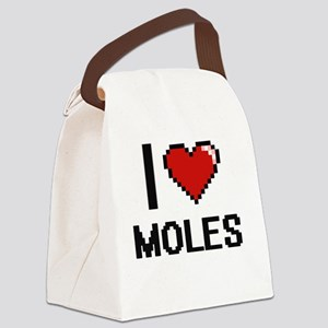 I love Moles Digital Design Canvas Lunch Bag