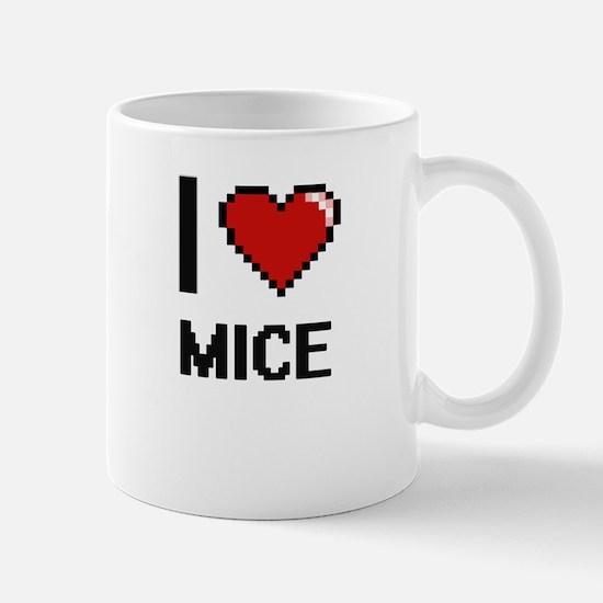 I love Mice Digital Design Mugs