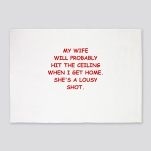 angry wife 5'x7'Area Rug