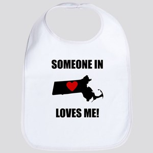 Someone In Massachusetts Loves Me Bib