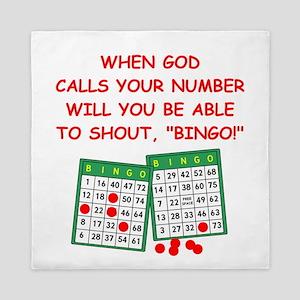 bingo god Queen Duvet