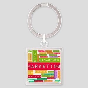 Branding and Marketing Square Keychain